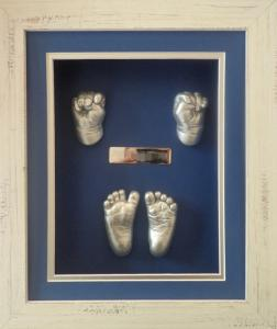 Two-Hands-Feet-no-Photo-Shabby-Blue-Silver