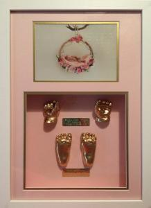White Frame with Pink Gold Pink Mat Combo.